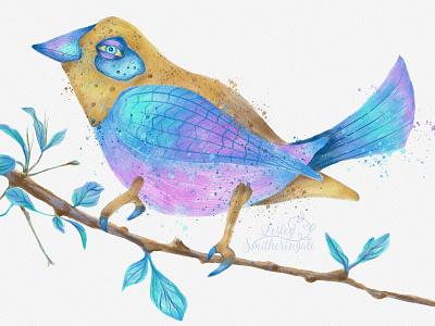 Fantasy Bird adobe photoshop art licensing birds illustration fantasy art digital illustration