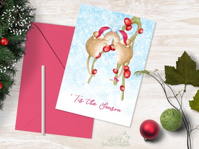 Christmas Berry Mice art licensing mice christmas christmas card adobe photoshop childrens book illustration digital illustration