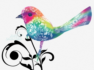 Decorative Bird watercolour illustration digital illustration rebelle3 bird art decorative folk art wren rebelle birds