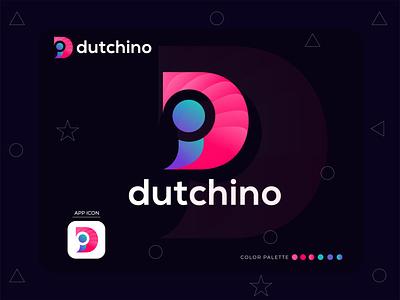 Dutchino Logo Design creative logo logo mark logo designer logo design letter logo design letter logo branding agency branding brand identity app icon app abstract