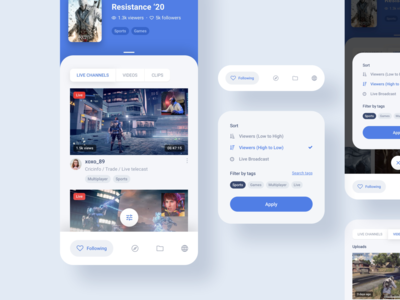 Twitch App Redesign Exploration