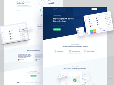 ReBOB - Landing Page illustration teamwork enterprise task management assign charts docket calendar dashboad landing landing page remote team remotework remote working management team remote work work from home remote