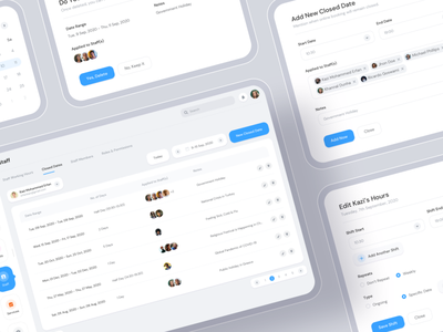 Appointment Booking Software System - Famkin ux designer ucd user experience center stage popups dialog box calendar date symbol components modal dashboad applied assigned appointments booking system booking app appointment booking booking appointment