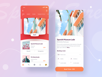Trip Planner Mobile App Exploration ui ux navigation ticket booking travel agency traveling travel app app spot tourist vacation holiday flight booking ticket plannig plane tour travel trip