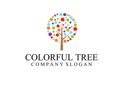 Colorful Tree Logo Template