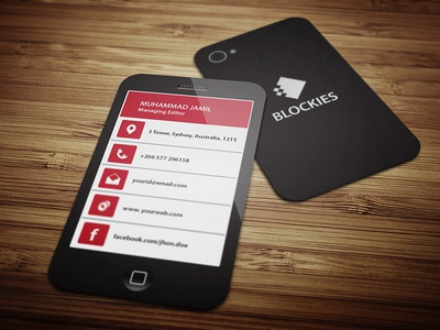 Smart Phone Business Card Template V.2