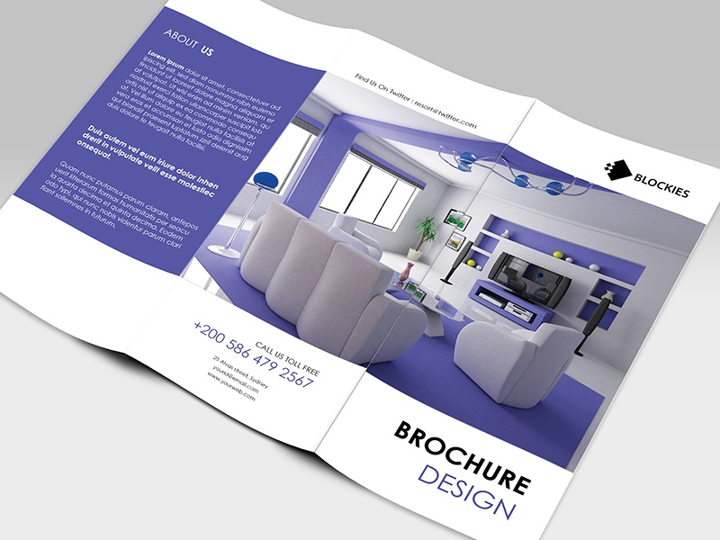 Multipurpose Tri-fold Brochure Template brochure corporate creative exclusive home house interior land multipurpose print professional tri-fold