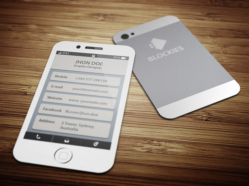 Iphone 6 Business Card Template by Kazi Mohammed Erfan - Dribbble
