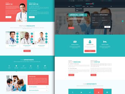 Medicare | Health & Medical Website operation unique simple creative professional ux ui medicine nurse doctor medical health