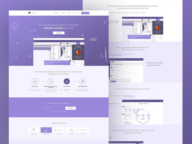 Nudgespot B2B SaaS Website