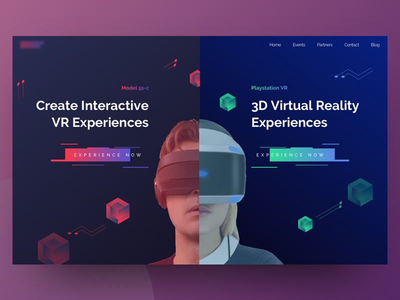 Virtual Reality Header Exploration 3d dark shape ux ui sci-fi science intelligence artificial augmented reality virtual reality vr
