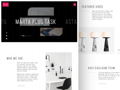 Reco Minimal Website Design