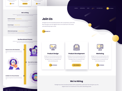 Careers Page Design interface marketing ui website landing page agency hire recruitment recruit career job join