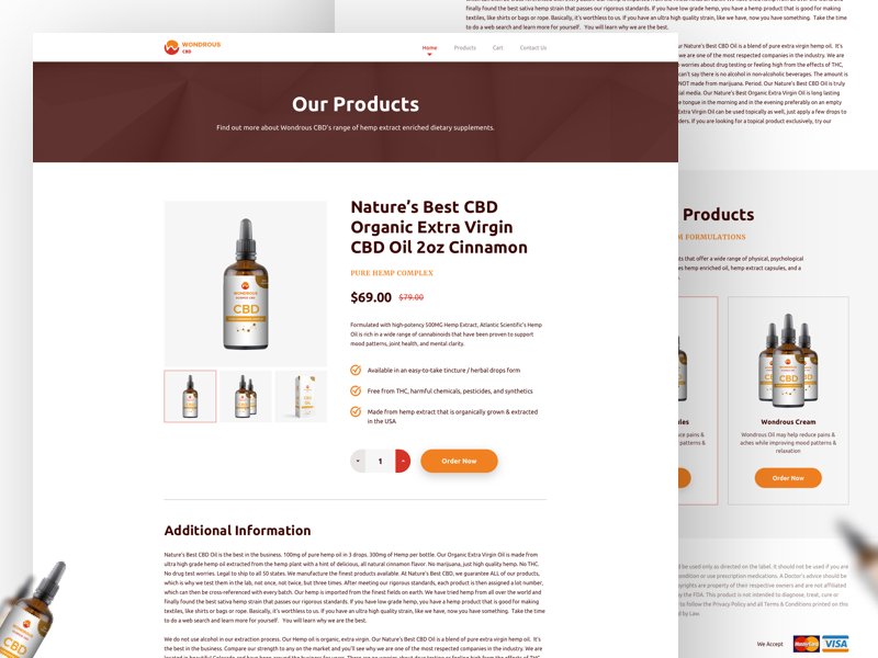 Single Product Page Design uidesign bank american beauty cbd website single product details single product ux ui