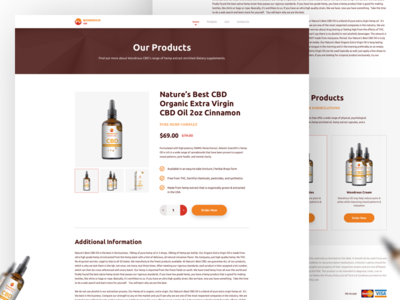 Single Product Page Design