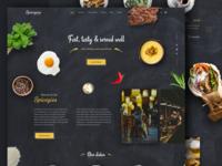 Spicegios Restaurant Landing Page