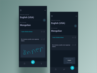 Translator App UI Design