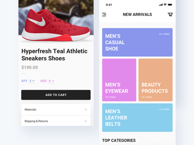 eCommerce App Design Concept order product ios cart nike shoe ux ui app business store ecommerce