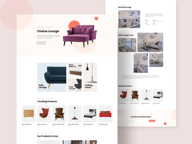 Furniture - Joomla Layout Bundle website futuristic home page design lamp layoutdesign joomla product landing page architecture interior design interior furniture