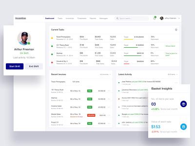 Task Management - Web Application app design dashboard ui manager marketing charts tasks web tool web application design task list task manager management task