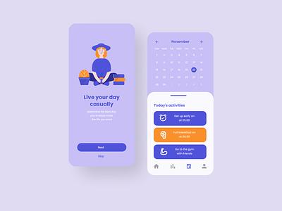Mobile App app daily ui typography illustration flat ux ui minimal design
