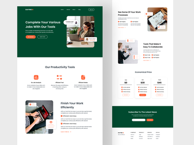 Landing page management tool work landing page web design website web minimal design daily ui ux ui