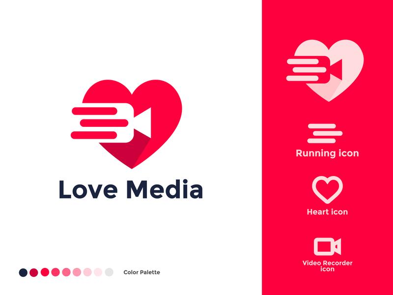 Love Media Logo Concept