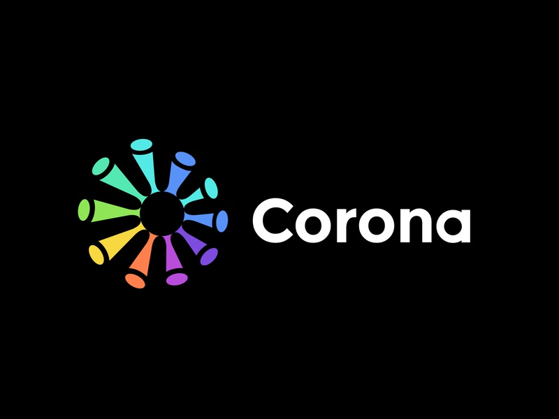 Logo concept for corona virus