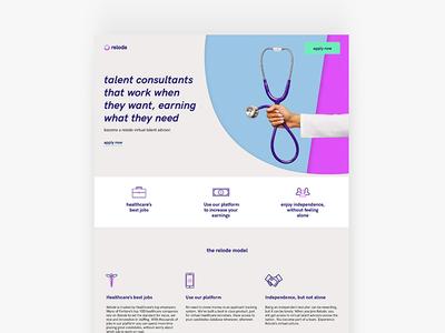 Relode   Landing Page Design