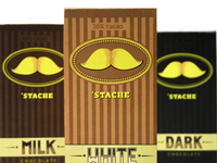 'Stache Chocolate, Chocolate with a mustache.