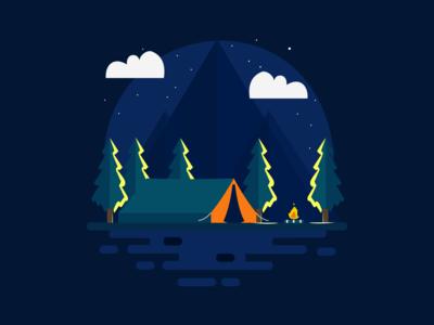 Night camp illustration illustrations illustration art illustrator illustration