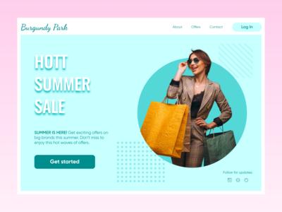 Hott summer sale web template!! shopping sale web template design web template template design template