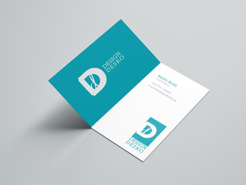 Logo Design For Design Desko cards business card type clean business identity logo design brand identity printing print print design vector branding design logo