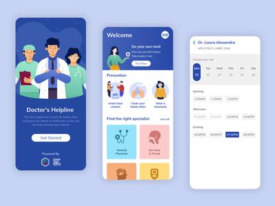 Meet Your Doctor ui product design mobile app ui design