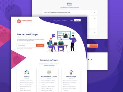 Web App for Startup Workshops product design product ui design ui  ux web design