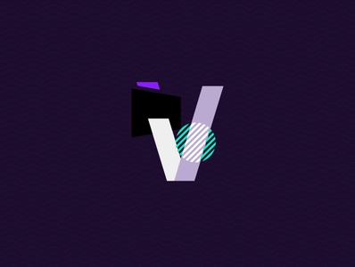 'V' abstract logo abstraction letters design logo