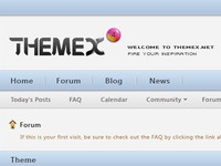 website interface design for Themex.net