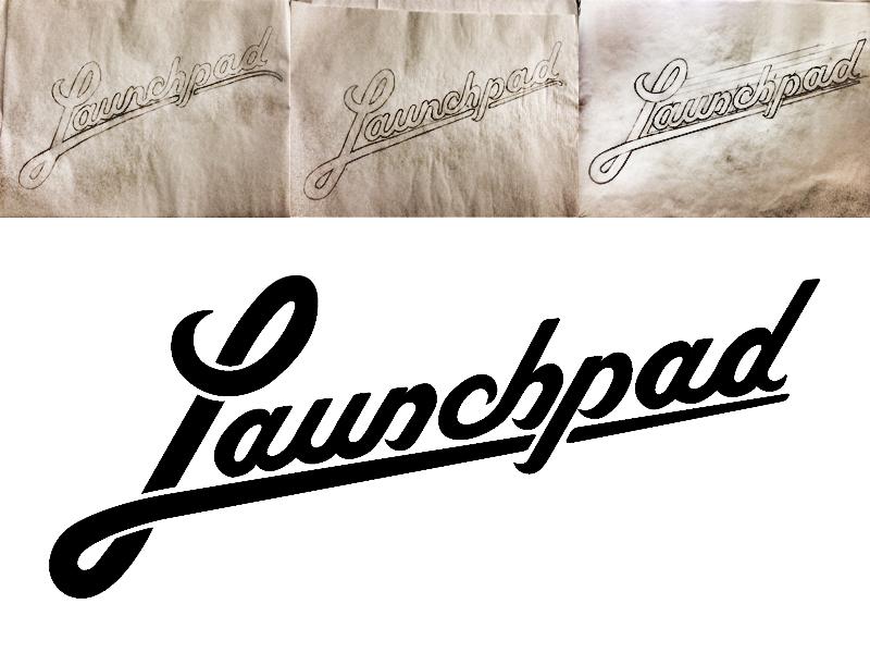 Launchpad logo type typography custom