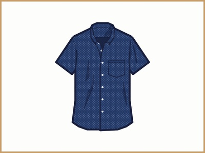 Short Sleeve Shirt in Mini Floral jcrew icon clothing shirt short sleeve mini floral pattern illustration vector