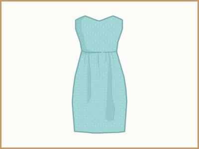 High Waist Polka Dot Sheath Dress