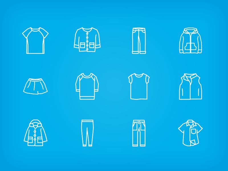 Clothing Icon Set clothing icon icons set clothes
