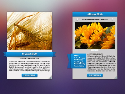 Profile Card - Front & Back