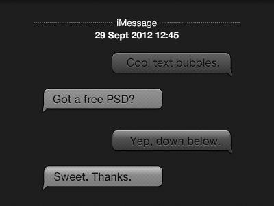 Chat Bubbles chat bubbles ios iphone