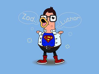 Super duck 2d character 2d art vector vector illustration character design comic comic art character design superman funny illustration funny funny character branding graphic design illustration