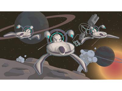"""""""Star Wars"""" from trade Union street 2d art stars inspirations creativity starship space vector art vector illustration vector"""