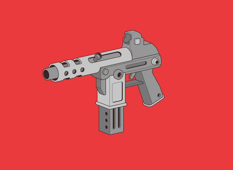 Machine Gun weapon flat red пулемет векторная иллюстрация векторная графика вектор gangsta gan design creative 2d vectorart vector illustration vector illustration 2d art