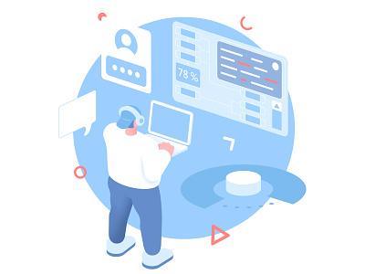 IT-specialist work 2d illustration inspiration creative design character design character illustrator illustraion vector illustration vector flat design flat 2d