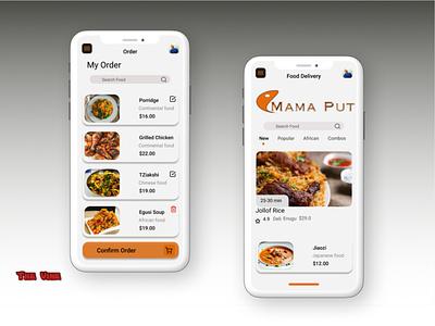 Food Delivery App mobile app mobile ui ui figmaafrica figmadesign figma