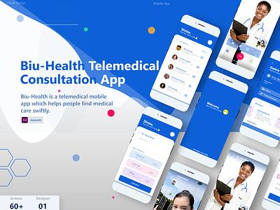 Biu-Health Telemedical Consultancy services pharmacy logo ux  ui video call health care medical app telemedicine ux design mobile ui webdesign figmadesign ui