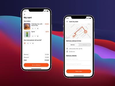 My Cart / Checkout UI fun delviery interface food uiux design app design app ux ui